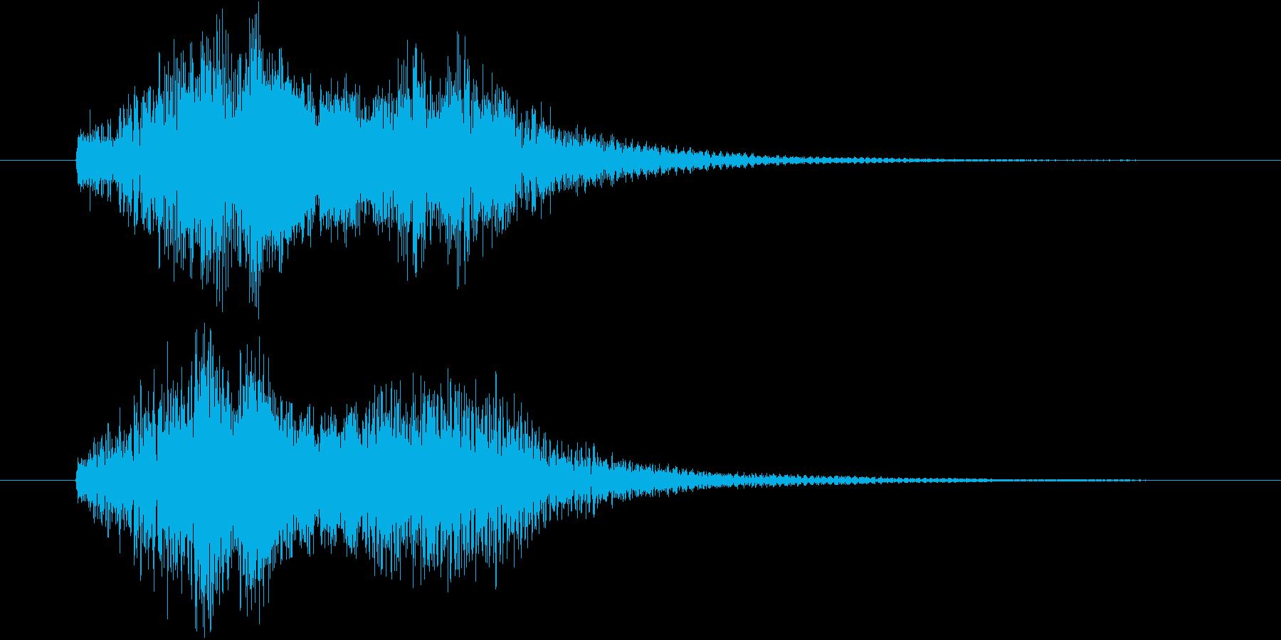 ハープのグリッサンドの和風verの再生済みの波形