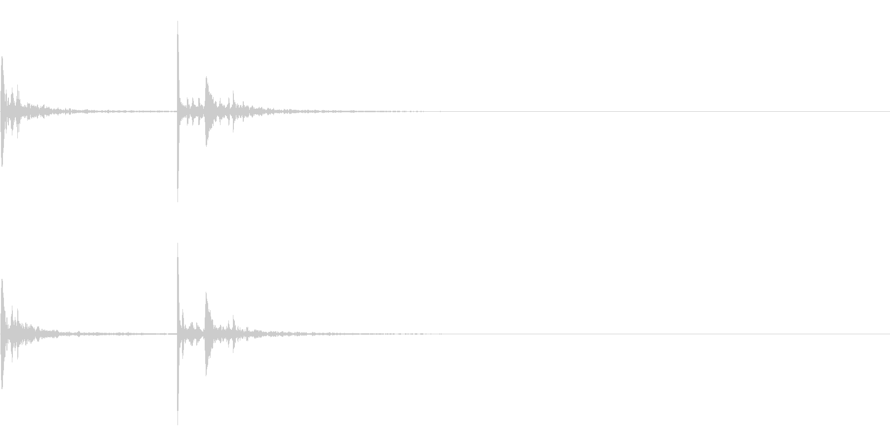 【生録音】お風呂 水の雫の音 一滴 1の未再生の波形