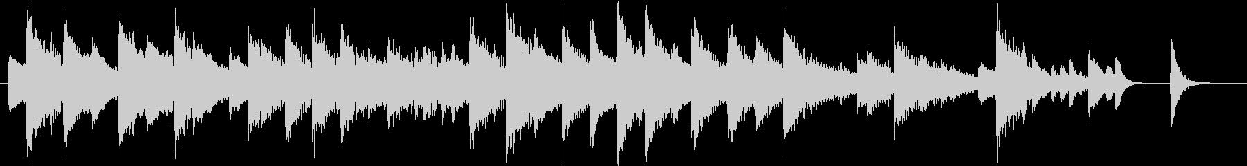 童謡・夕焼小焼モチーフのピアノジングルBの未再生の波形