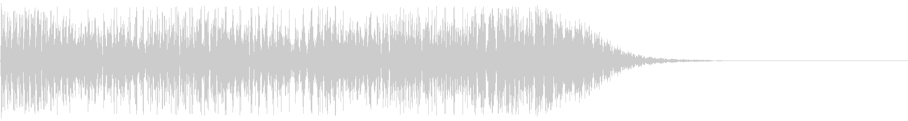 高速なビームが通り過ぎる音の未再生の波形
