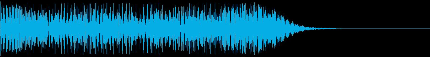 高速なビームが通り過ぎる音の再生済みの波形