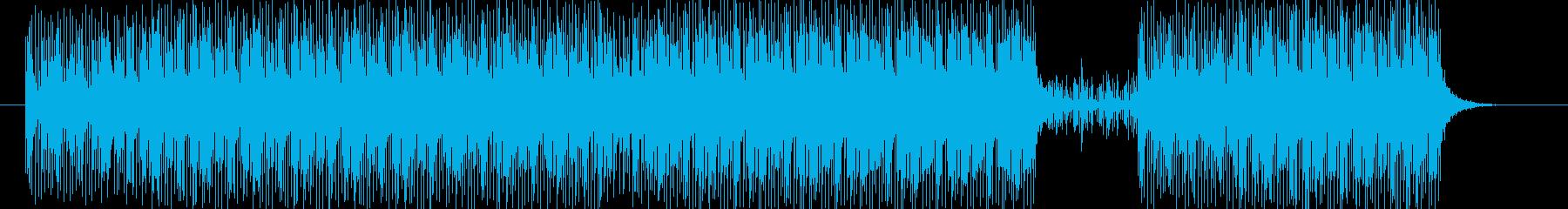 無機質で疾走感のある楽曲の再生済みの波形