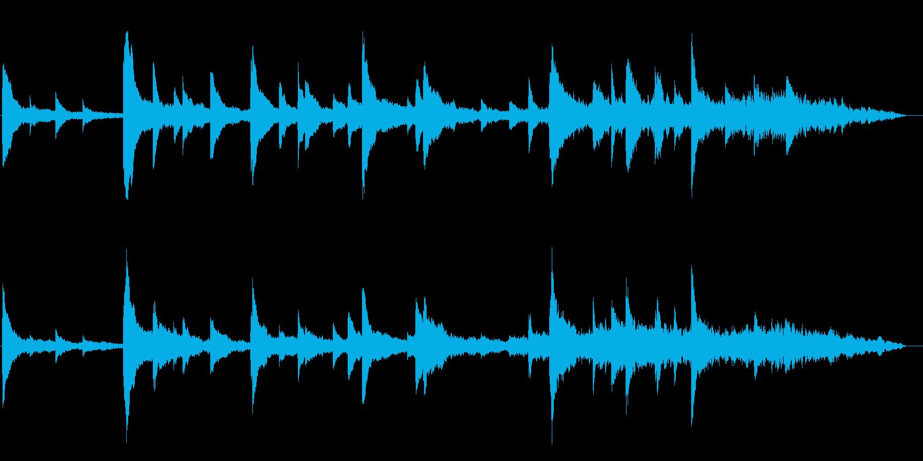 優しいピアノのヒーリングの再生済みの波形