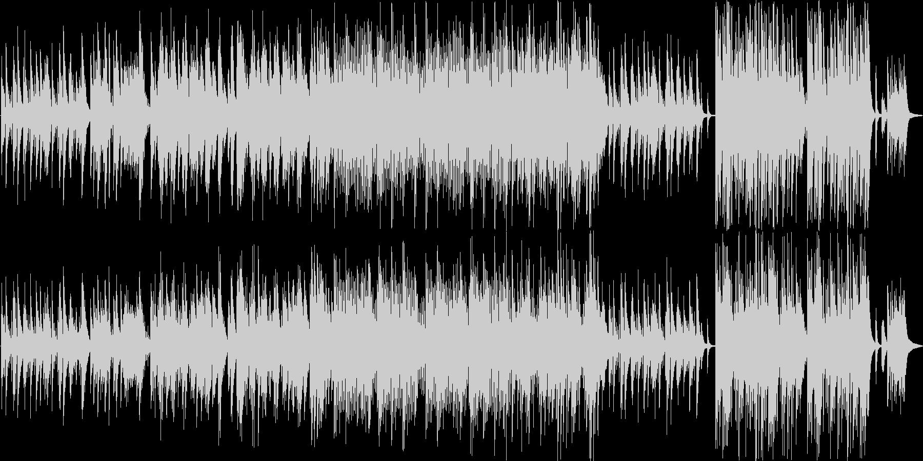 結婚式用ピアノ曲の未再生の波形