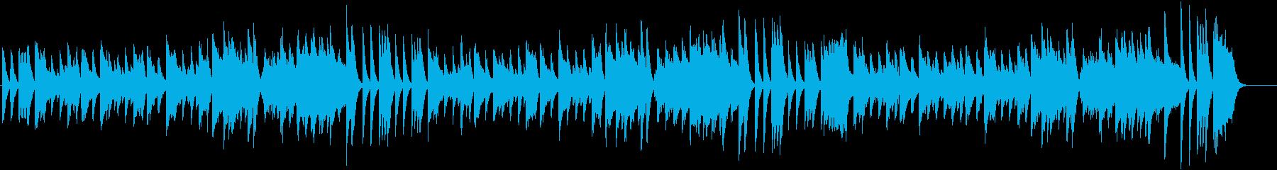 アップテンポでハッピーな冬ピアノBGMの再生済みの波形