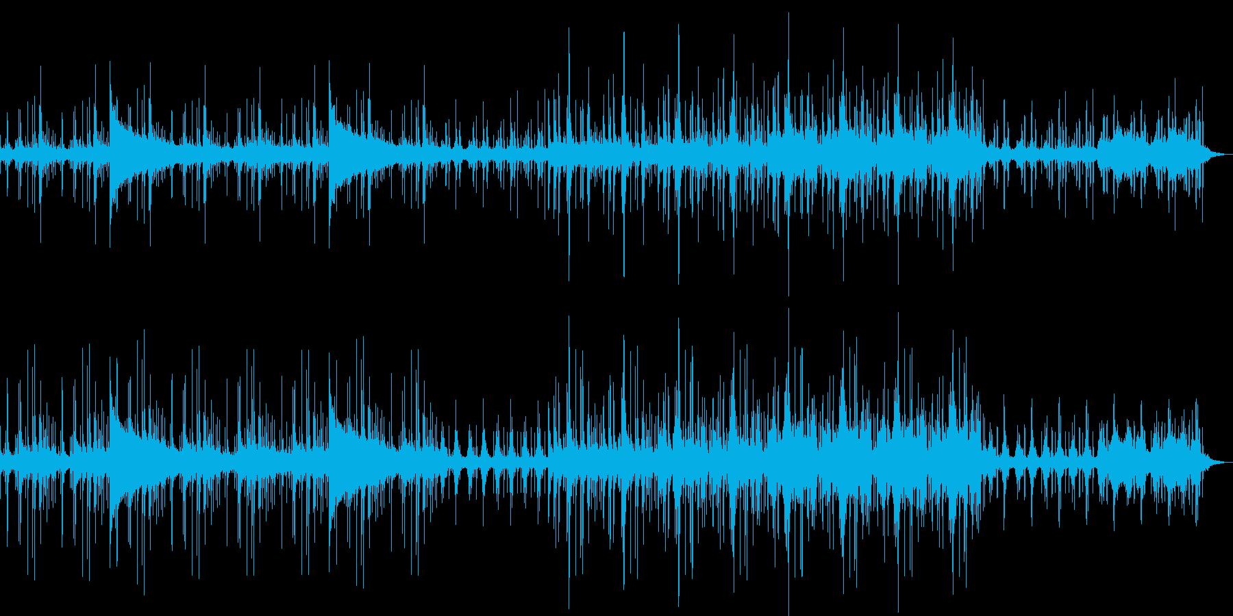 山奥のお寺をイメージしたBGMの再生済みの波形