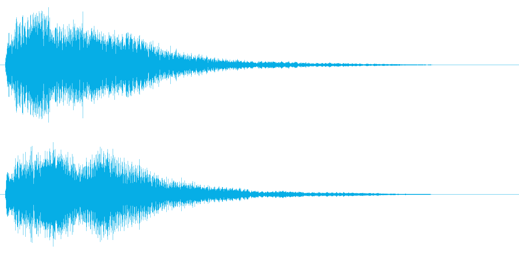 ゲームオーバー/ホラー系/ミステリーの再生済みの波形
