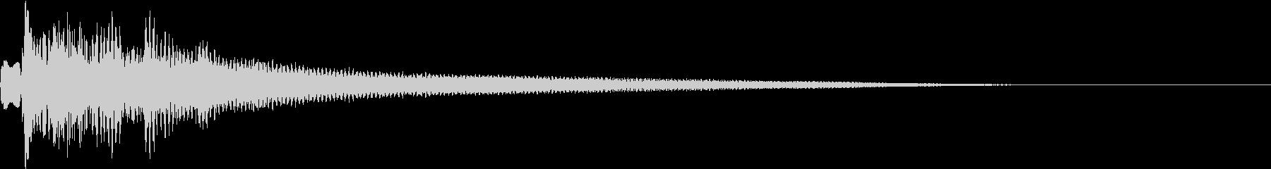 テュルルン:シリアスなハープ・弾くhの未再生の波形