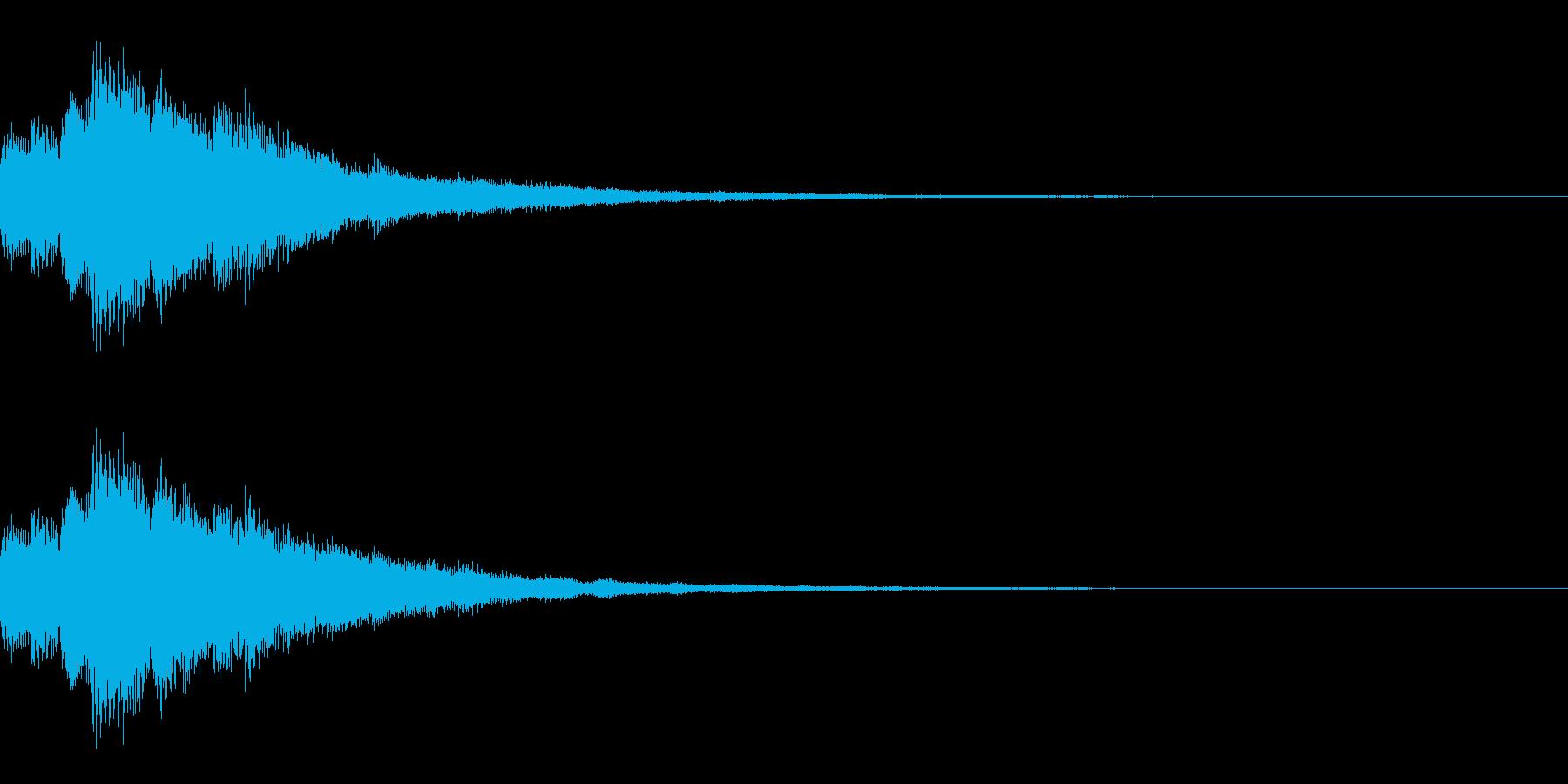 キラリン(明るくポジティブな上昇音)の再生済みの波形