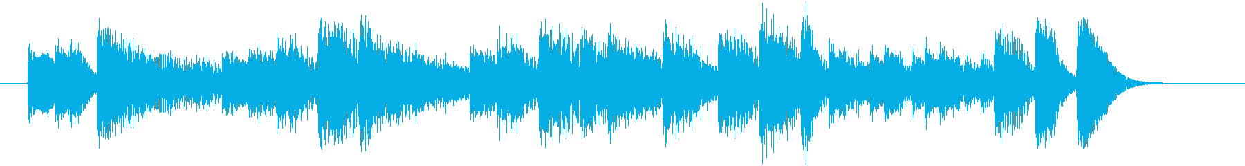 ファンキーでかっこいいピアノジングルの再生済みの波形