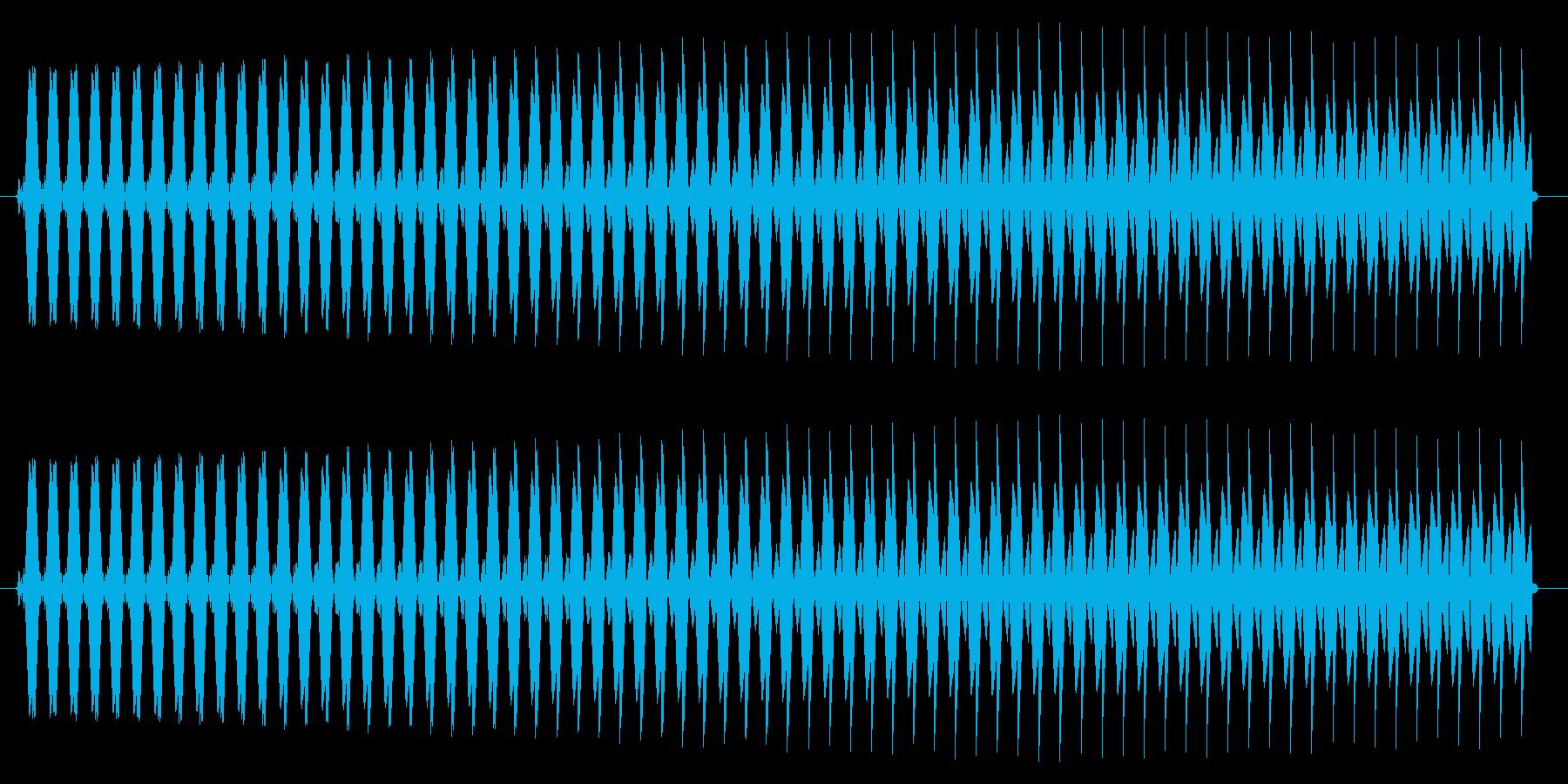 ヴゥー。クイズ不正解・ブザー音の再生済みの波形