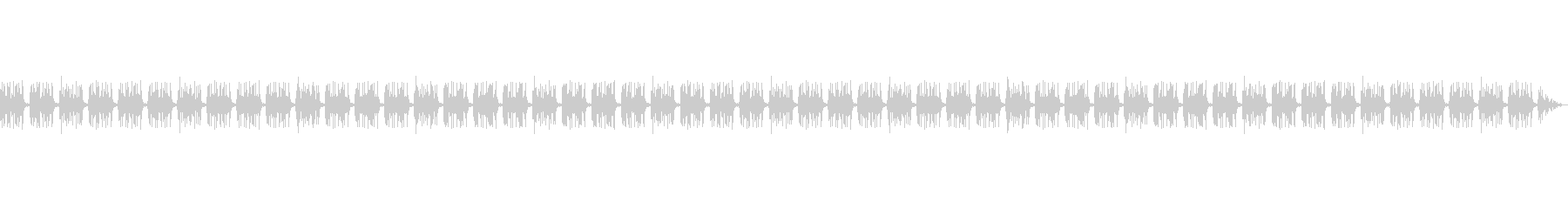 Vtuberの配信 単調なBGMの未再生の波形