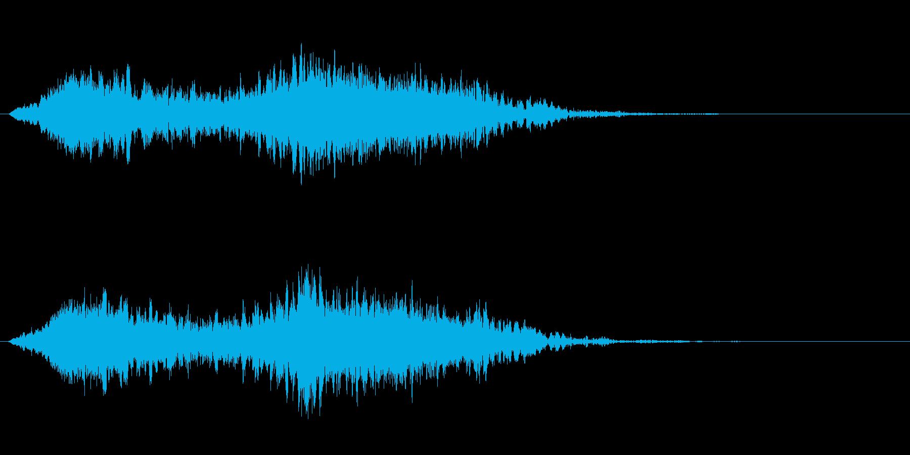 電気バズウォッシュ変動する高周波シ...の再生済みの波形