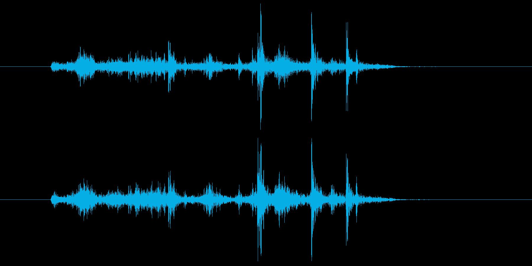 ガサゴソ(紙袋、探す)の再生済みの波形