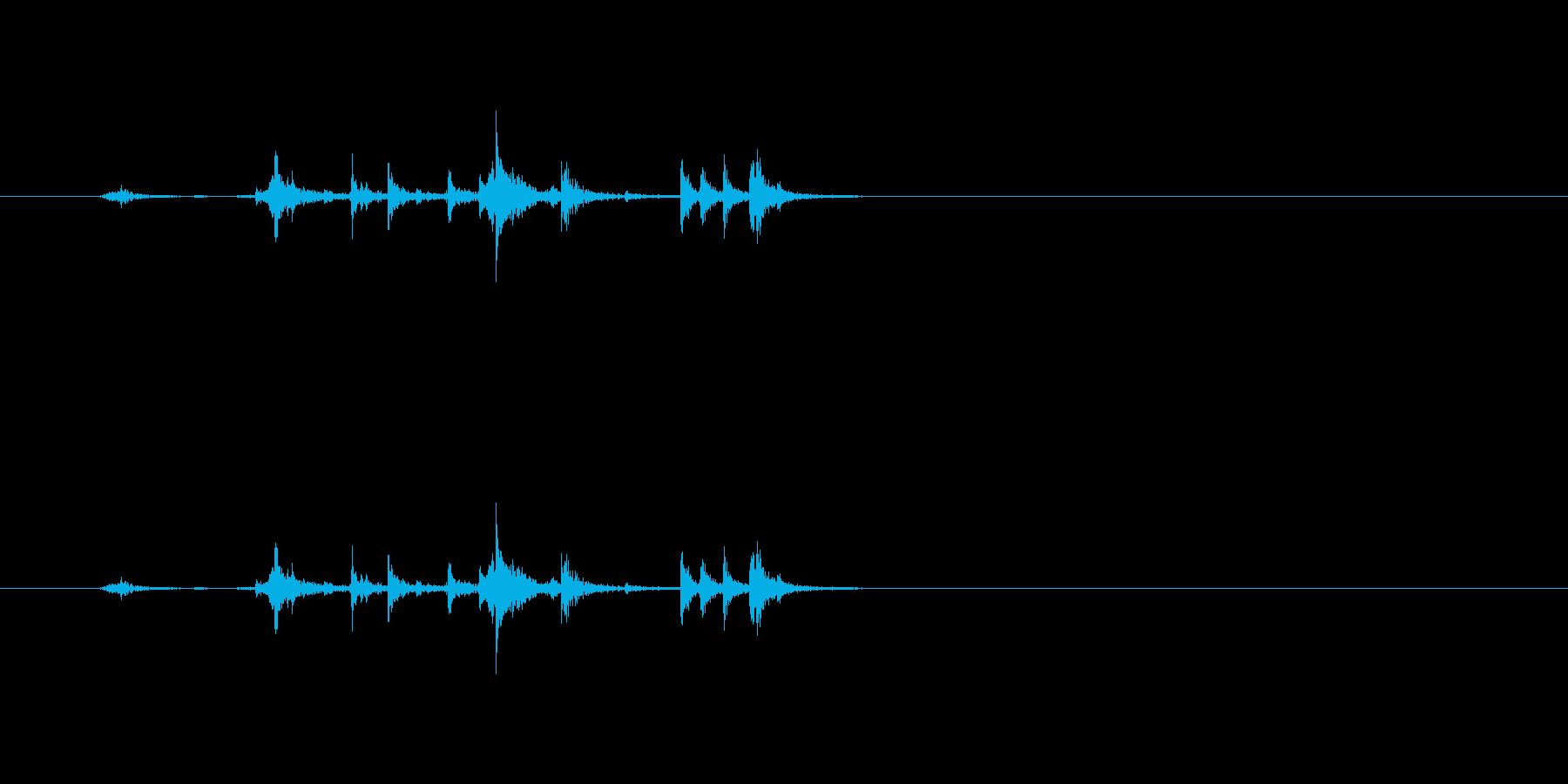 【筆箱01-1(開ける)】の再生済みの波形