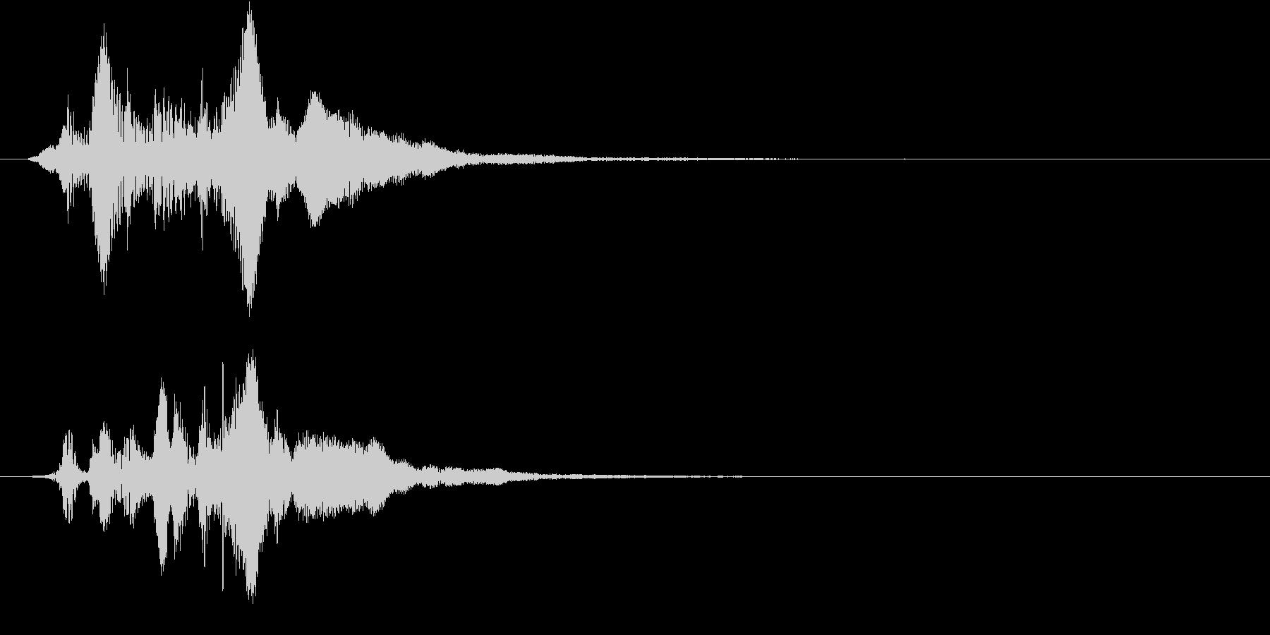 決定音1の未再生の波形