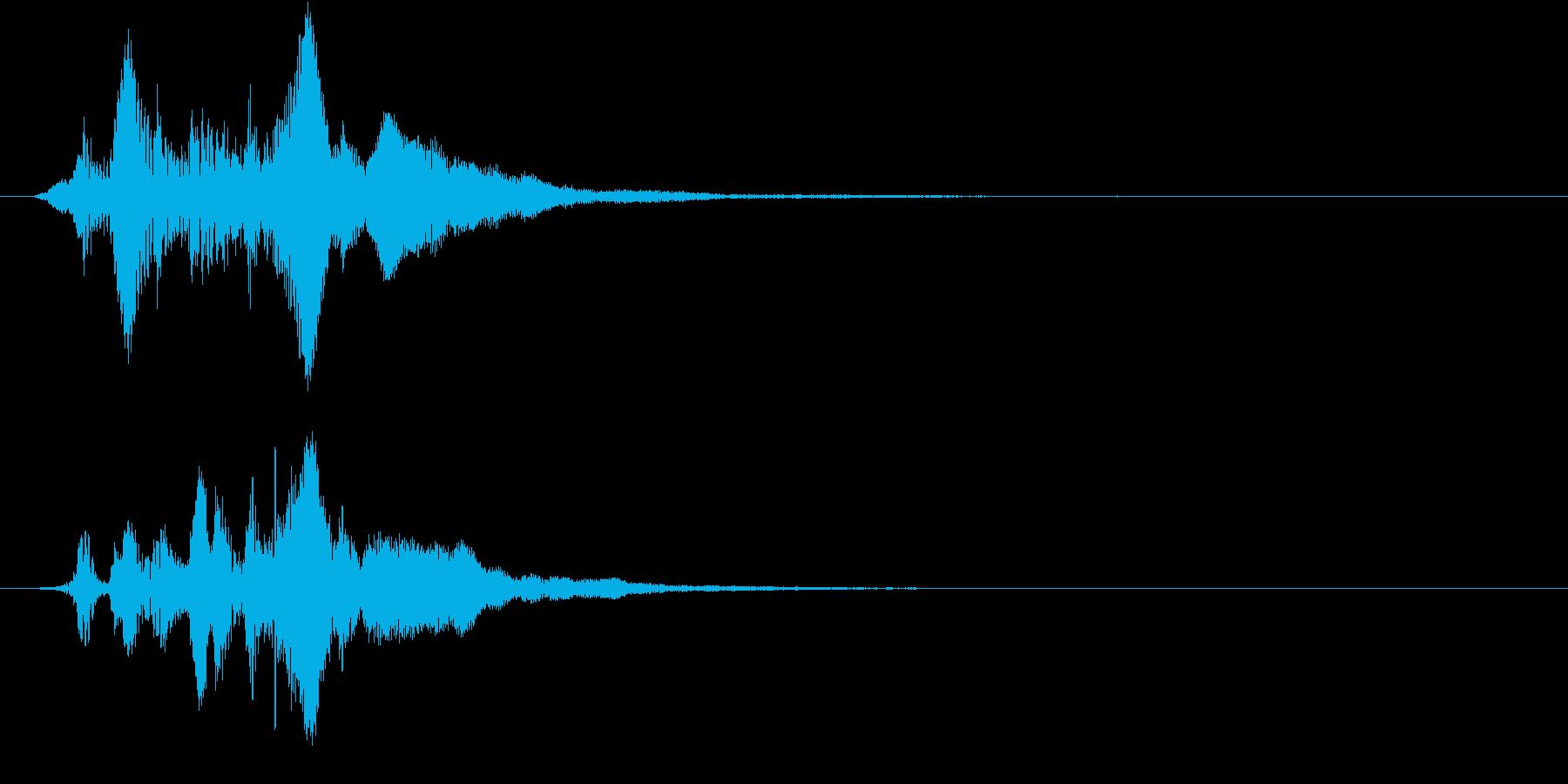 決定音1の再生済みの波形