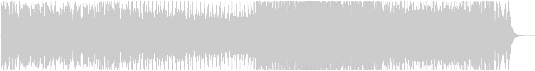 明るく盛り上がる王道ピアノEDMの未再生の波形