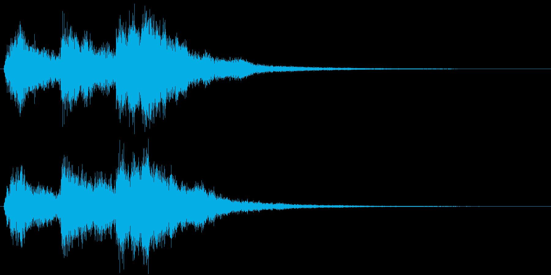 宝箱発見やLvUpをイメージした効果音の再生済みの波形