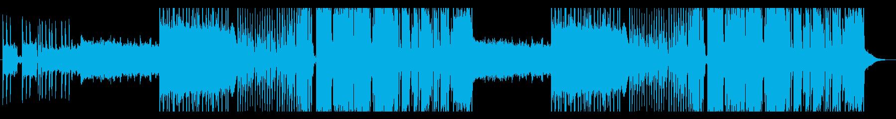 壮大に広がっていくエレクトロポップの再生済みの波形