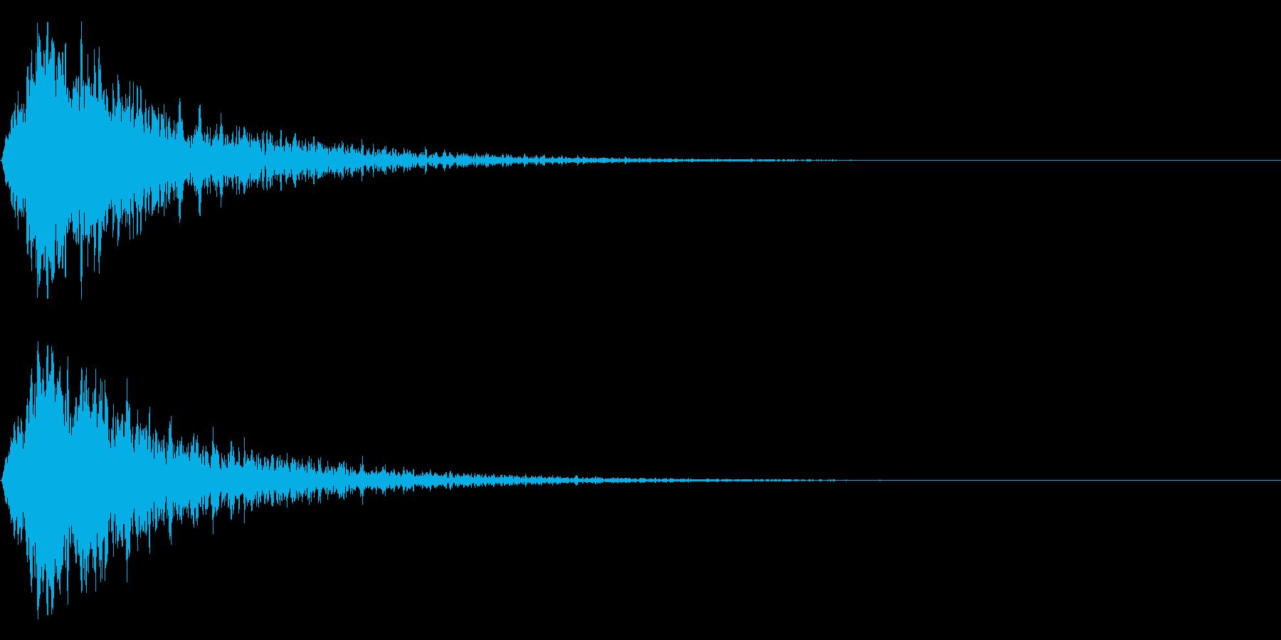 ゲームオーバー、クラッシュ、ロゴの再生済みの波形