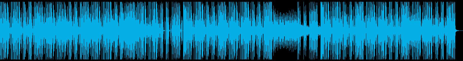 勢いのあるBGMの再生済みの波形