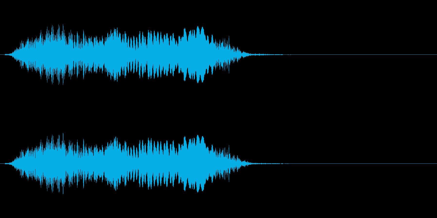 【絶叫 女性01-3】の再生済みの波形