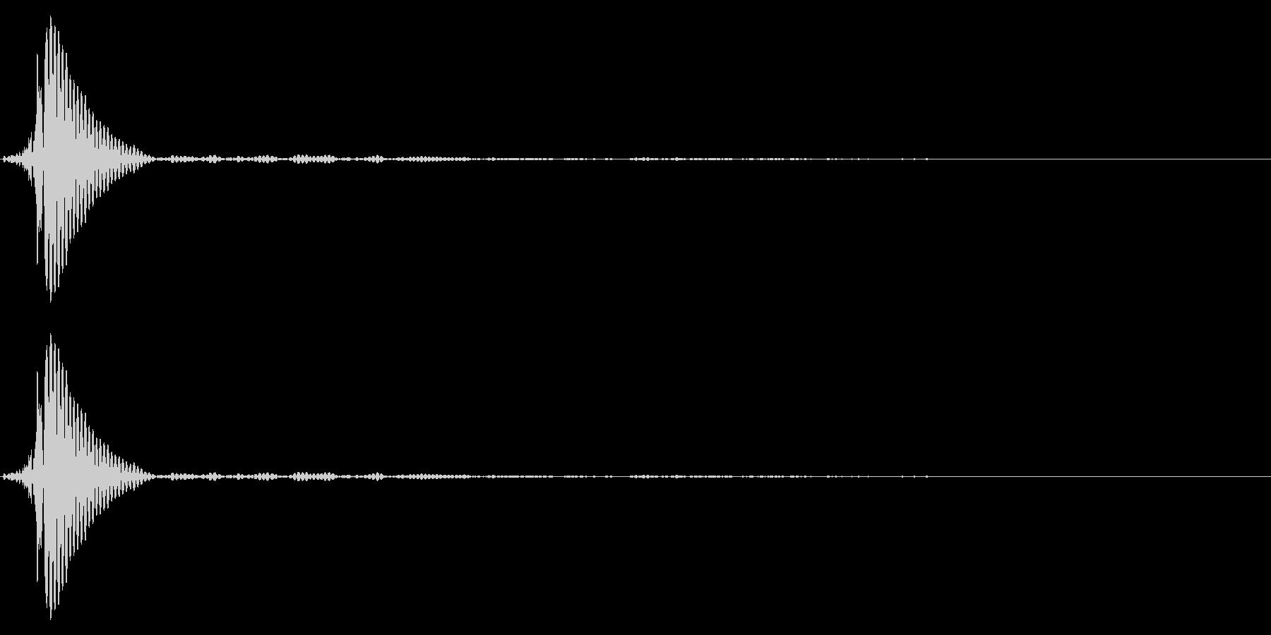 ポン(タップ・クリック音・高音)の未再生の波形