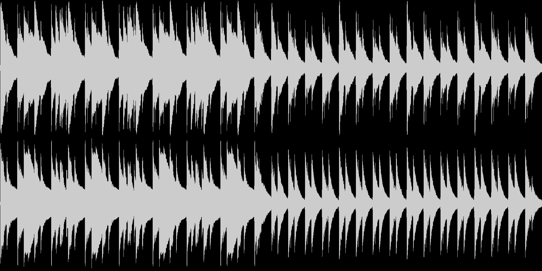 ゆったりとしたアコギの曲の未再生の波形