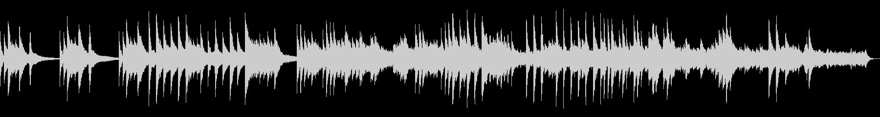 ピアノとストリングスの爽やかなBGMの未再生の波形