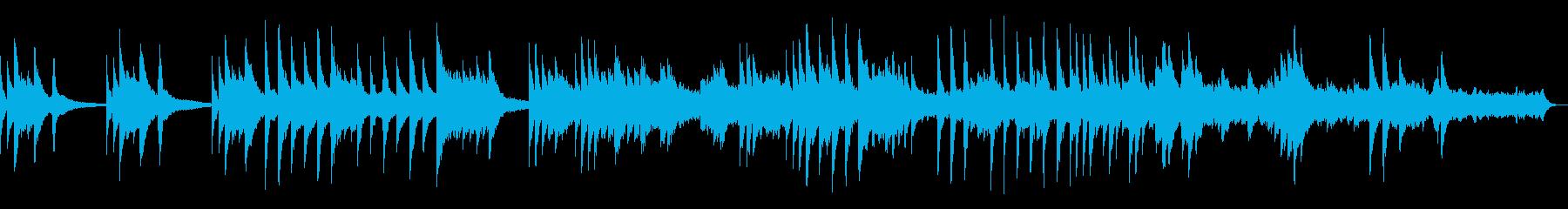 ピアノとストリングスの爽やかなBGMの再生済みの波形
