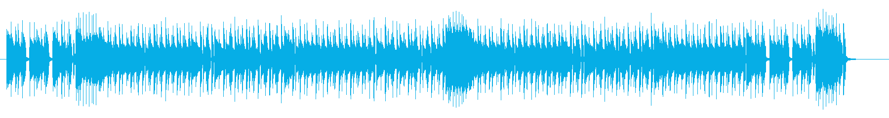 ノリの良いドラムポップスの再生済みの波形