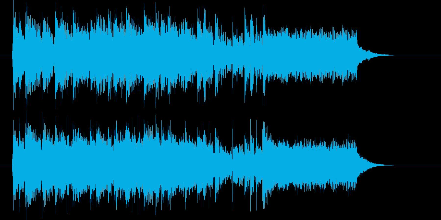 走り抜ける爽快なポップミュージックの再生済みの波形