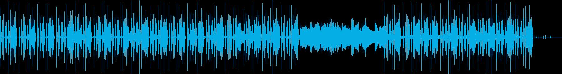 ダークな雰囲気のBGMの再生済みの波形