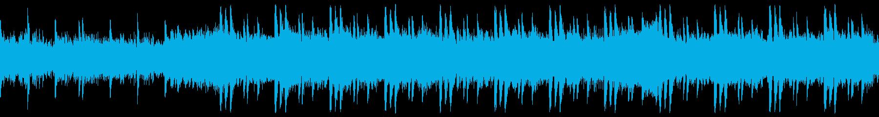 爽快で浮遊感のあるリズムのBGMの再生済みの波形