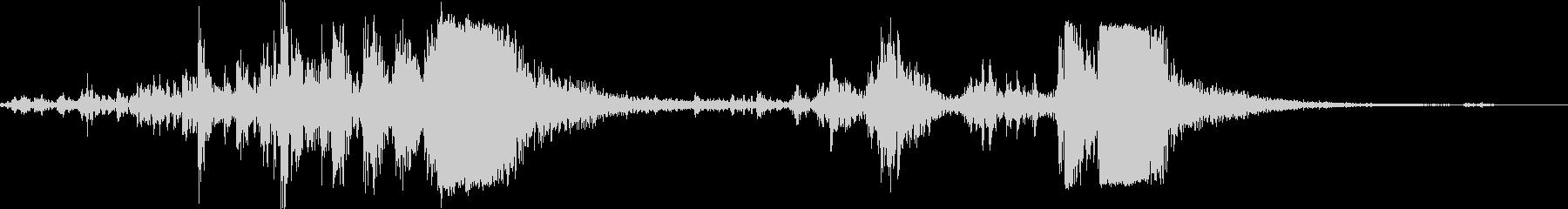 銃 機関銃リロード音 リアル系 動作音付の未再生の波形