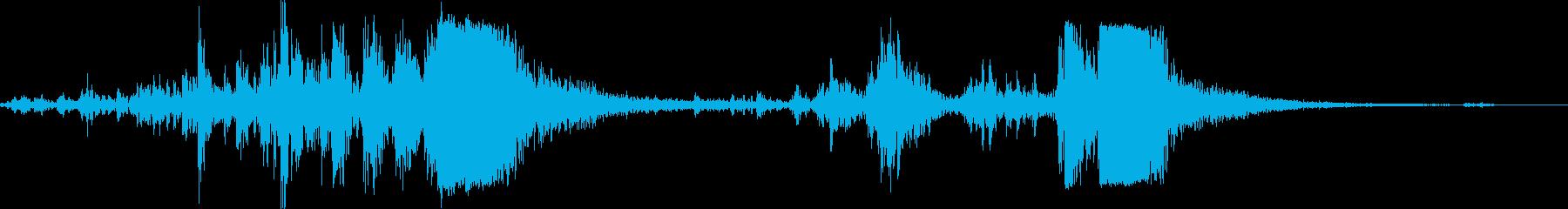 銃 機関銃リロード音 リアル系 動作音付の再生済みの波形