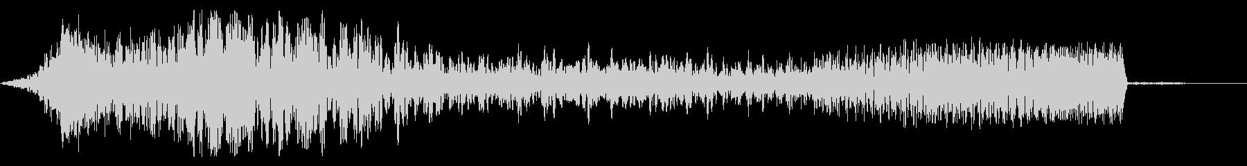 インパクト音〜ピアノフェードインの未再生の波形