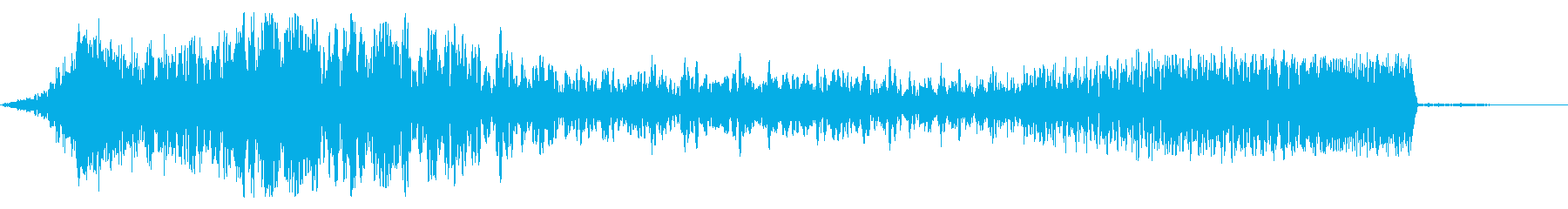 インパクト音〜ピアノフェードインの再生済みの波形