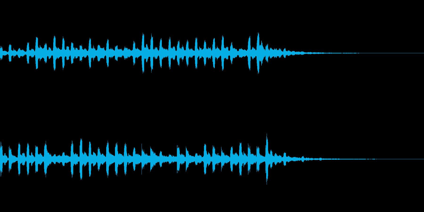メルヘンチックなサウンドロゴの再生済みの波形