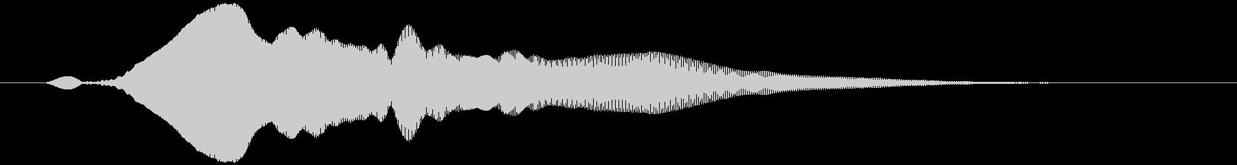 オノマトペ(下降) ヒヨォッの未再生の波形