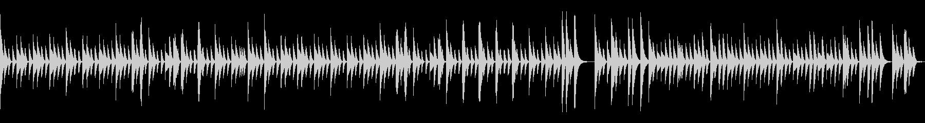 マリンバでループする牧歌的インストの未再生の波形