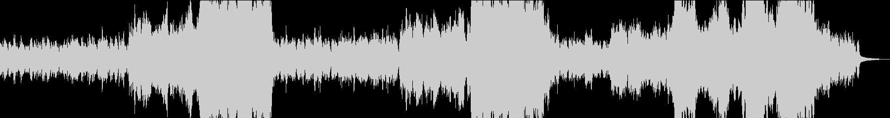 流星群をイメージしたBGMの未再生の波形