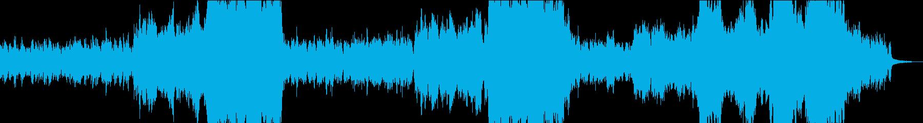 流星群をイメージしたBGMの再生済みの波形