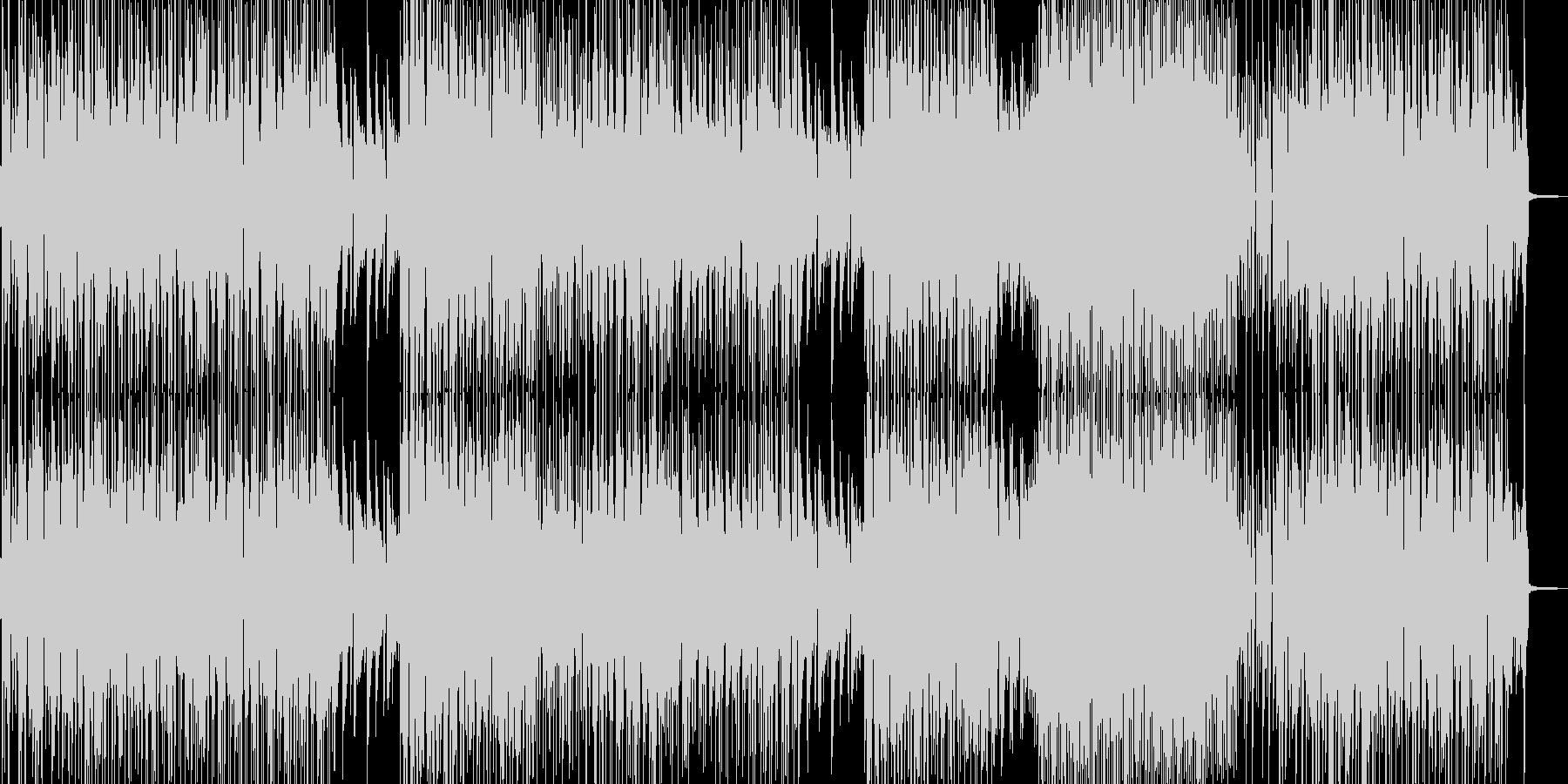 お笑い冒険活劇・打楽器の三味線ファンクの未再生の波形