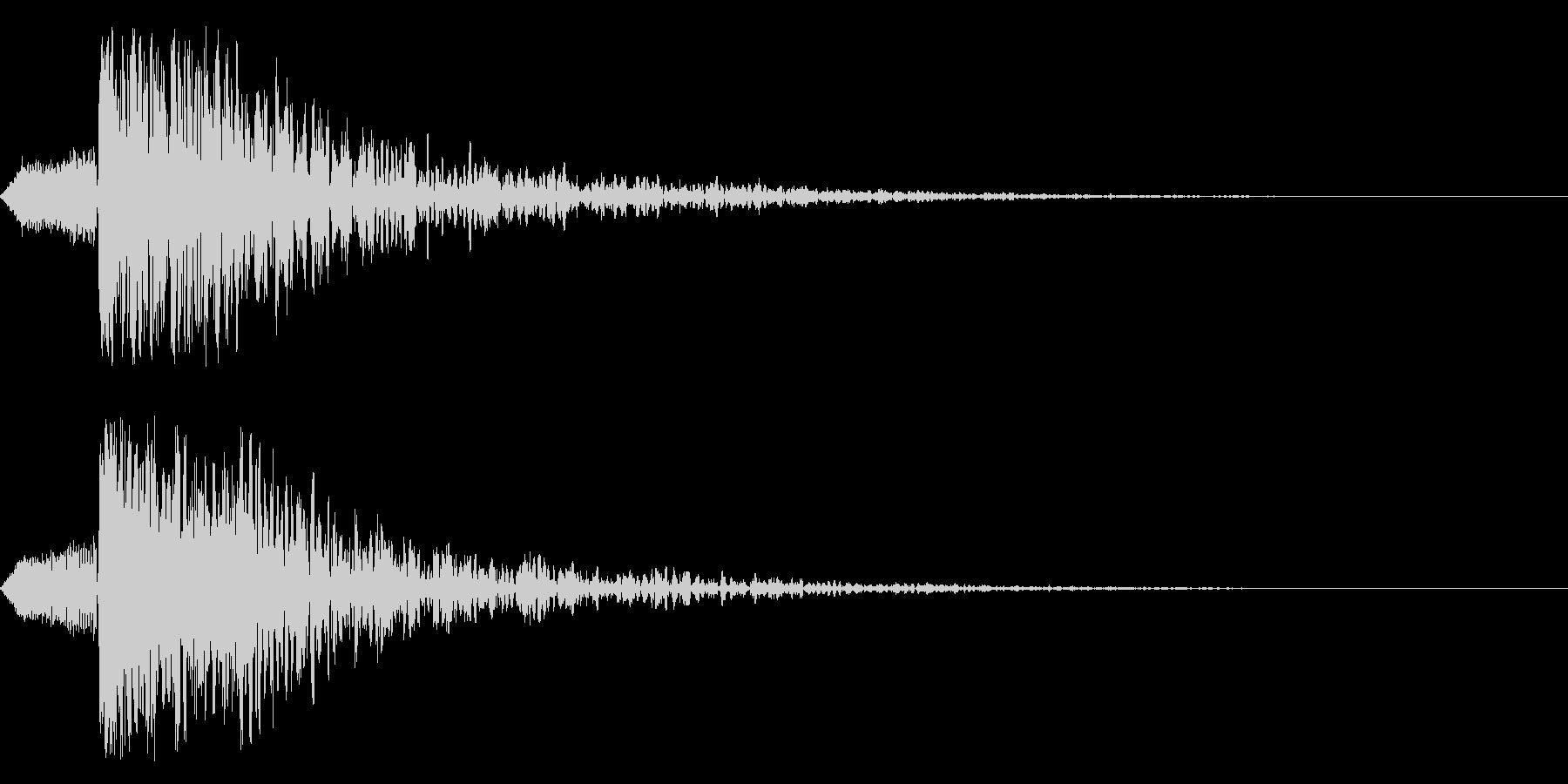シネマティック 和風ヒット インパクト1の未再生の波形