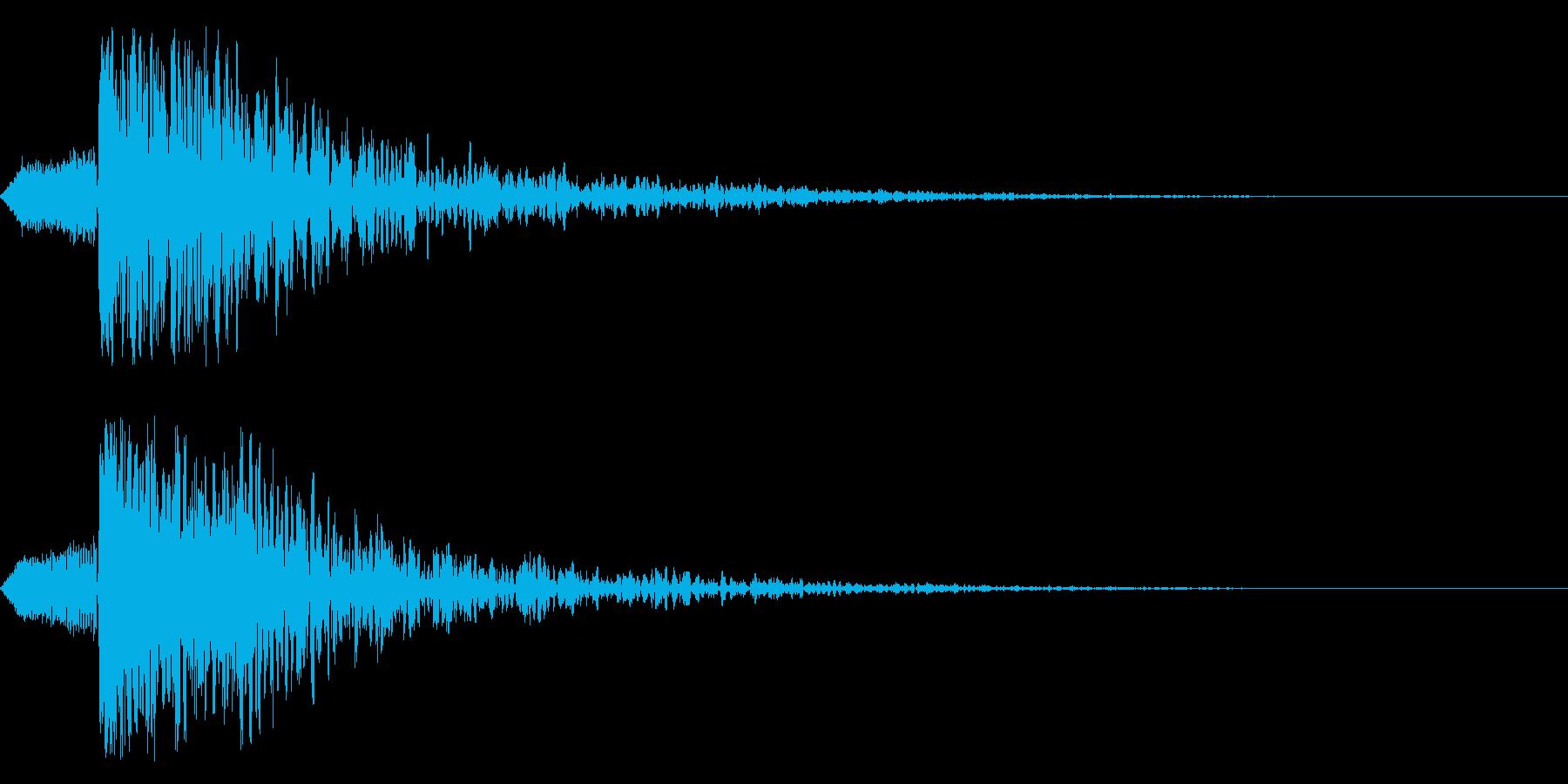 シネマティック 和風ヒット インパクト1の再生済みの波形