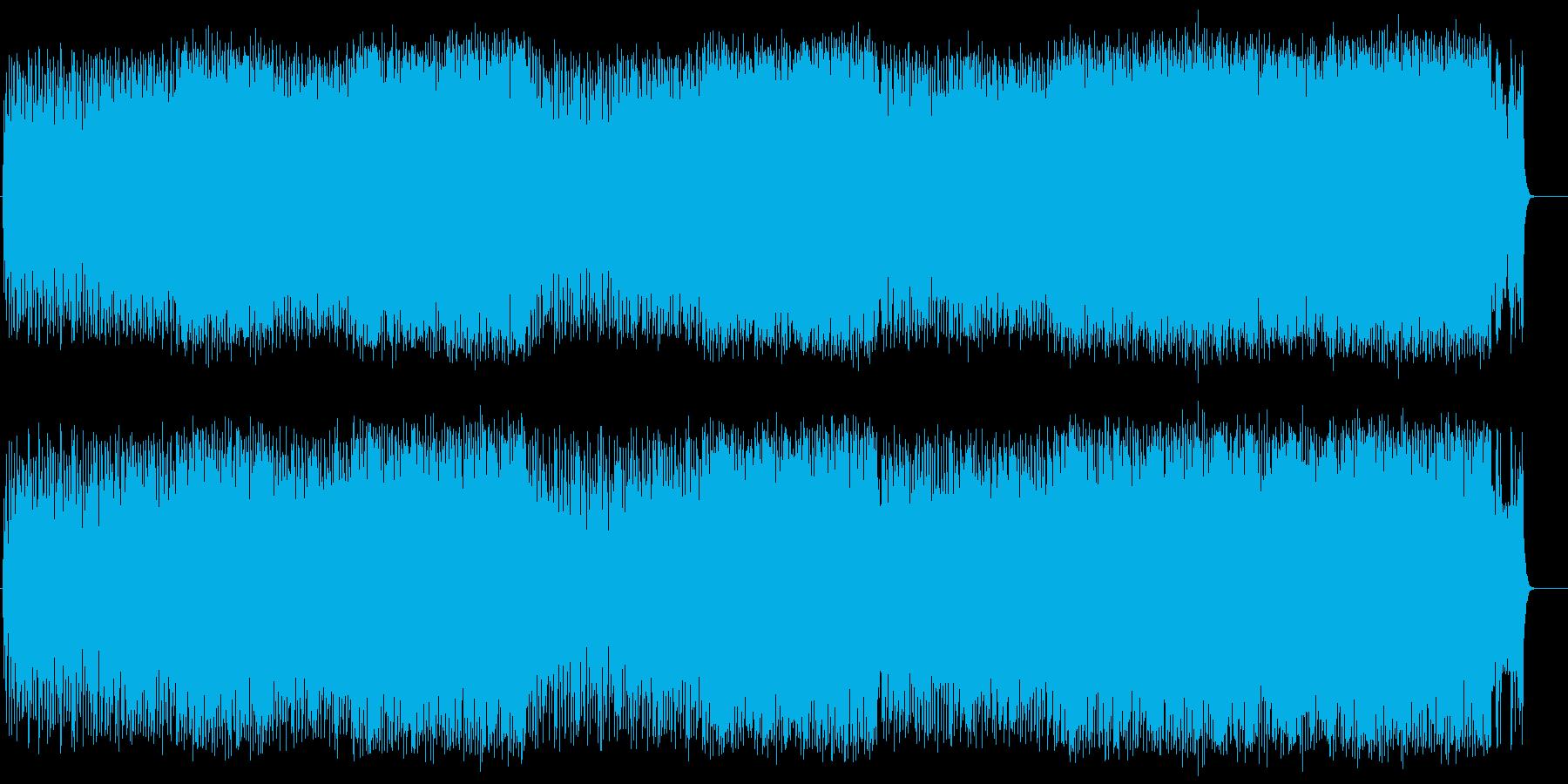 スピード感あるロック/ポップの再生済みの波形