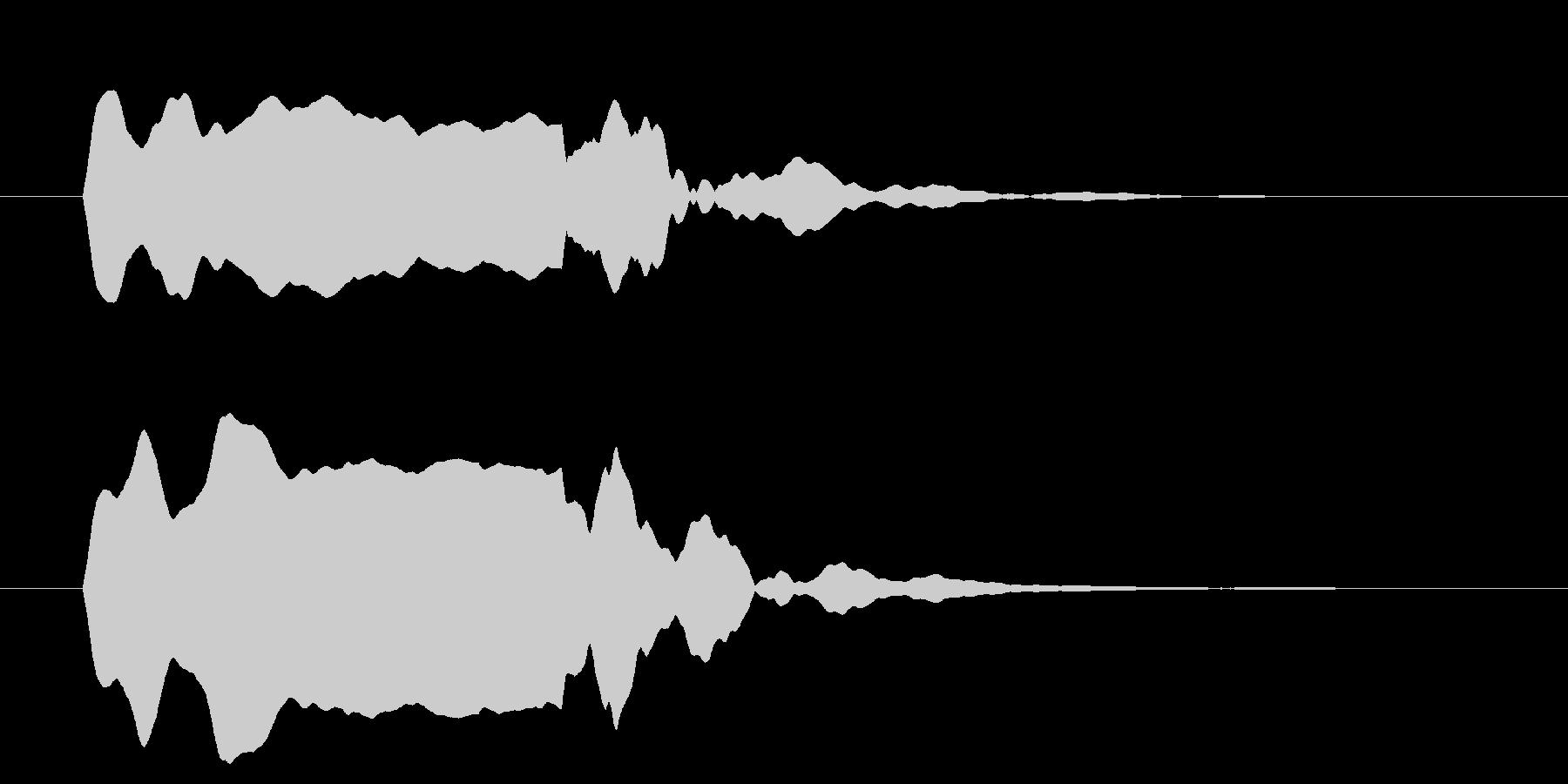 改札 ビープ音01-15(音色2 遠)の未再生の波形