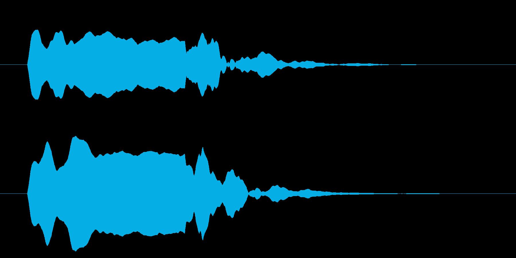 改札 ビープ音01-15(音色2 遠)の再生済みの波形